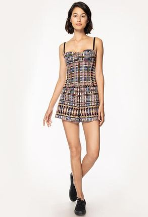 Short Casual Style Tweed Shorts