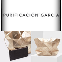 Purificacion Garcia A4 Plain Leather Office Style Elegant Style Formal Style