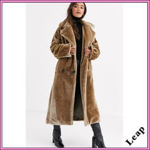 ASOS Faux Fur Plain Long Oversized Cashmere & Fur Coats