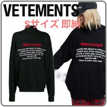 VETEMENTS Casual Style Unisex Wool Street Style Long Sleeves Medium