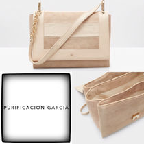 Purificacion Garcia Plain Leather Office Style Elegant Style Formal Style