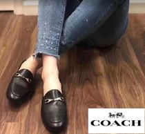Coach Street Style Plain Logo Loafer & Moccasin Shoes