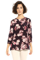 Diffusione Tessile Flower Patterns Casual Style Silk Cropped Party Style