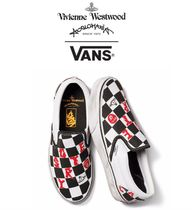VANS SLIP ON Unisex Street Style Collaboration Logo Shoes
