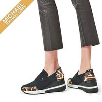 Michael Kors Leopard Patterns Plain Toe Casual Style Spawn Skin