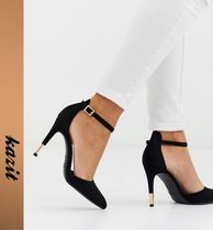 ASOS Casual Style Faux Fur Pin Heels Stiletto Pumps & Mules
