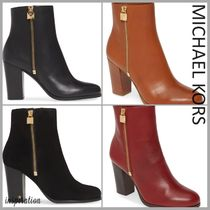 Michael Kors Casual Style Suede Street Style Plain Leather Block Heels