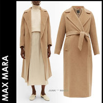 Weekend Max Mara Casual Style Wool Plain Medium Long Office Style