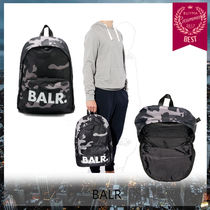 BALR Unisex Plain Backpacks