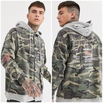 The Couture Club Camouflage Street Style Long Sleeves Cotton Shirts