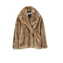 Jakke Faux Fur Plain Other Animal Patterns Long Eco Fur