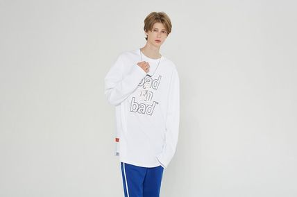 Crew Neck Street Style Long Sleeves Cotton Oversized