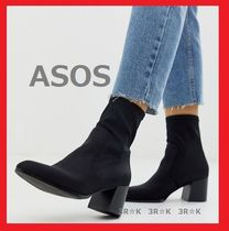 ASOS Plain Block Heels High Heel Boots