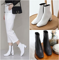 Square Toe Casual Style Plain Handmade Office Style