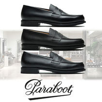 Paraboot Moccasin Plain Leather U Tips Loafers & Slip-ons