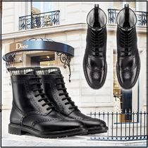 """Christian Dior 2019-20AW CALFSKIN """"D-ORDER"""" ANKLE BOOTS black booties"""