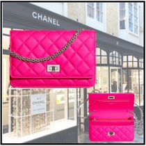 CHANEL 2019-20AW 2.55 CHAIN WALLET pink more wallets & cases
