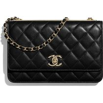 CHANEL 2019-20AW CHAIN WALLET black more wallets & cases
