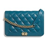 CHANEL BOY CHANEL 2019-20AW BOY CHANEL CHAIN WALLET turquoise more wallets