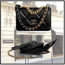 CHANEL 2019-20AW CHANEL 19 CHAIN WALLET black more wallets