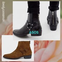 ASOS Suede Street Style Plain Leather V Tips Boots