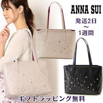 ANNA SUI Star Casual Style Studded A4 Office Style Elegant Style