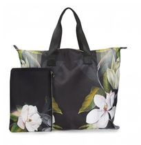 TED BAKER Flower Patterns Office Style Elegant Style Totes