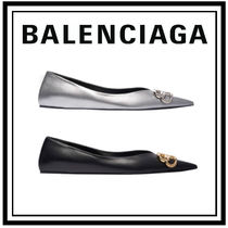 BALENCIAGA Casual Style Plain Leather Party Style Office Style