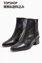 TOPSHOP Casual Style Street Style Plain Leather Block Heels