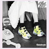 Reebok PUMP FURY Casual Style Unisex Plain Oversized Low-Top Sneakers