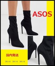 ASOS Plain Pin Heels High Heel Boots