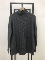 S Max Mara Wool Cashmere Long Sleeves High-Neck Cashmere