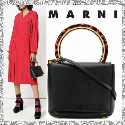 MARNI Shoulder Bags Plain Leather Shoulder Bags