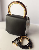 MARNI PANNIER Plain Leather Shoulder Bags