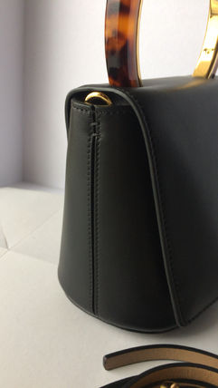 MARNI Shoulder Bags Plain Leather Shoulder Bags 4