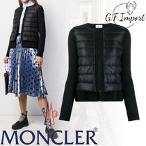 MONCLER Casual Style Blended Fabrics Long Sleeves Plain Cardigans