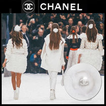 CHANEL Barettes Casual Style Blended Fabrics Party Style