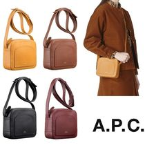 A.P.C. Calfskin Plain Shoulder Bags