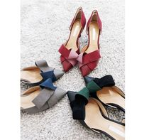 gumzzi Casual Style Suede Plain Pin Heels Party Style Office Style