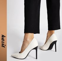 River Island Casual Style Faux Fur Pin Heels Stiletto Pumps & Mules
