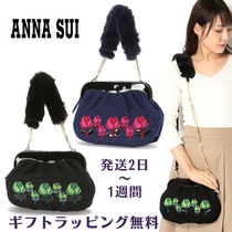 ANNA SUI Flower Patterns Casual Style Faux Fur 2WAY Party Style