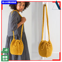 THE SMALL HOME Casual Style Handmade Purses Shoulder Bags