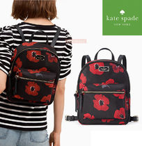 kate spade new york Flower Patterns Casual Style Nylon A4 Backpacks
