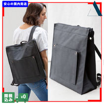 THE SMALL HOME Casual Style Canvas A4 Plain Handmade Backpacks
