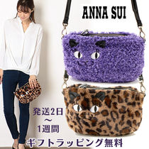 ANNA SUI Leopard Patterns Casual Style 2WAY Plain