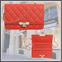 CHANEL 2019-20AW CHAIN WALLET red more wallets & cases