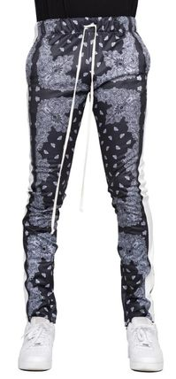 Printed Pants Paisley Unisex Street Style Patterned Pants