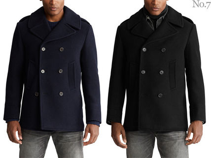 Ralph Lauren Short Wool Street Style Plain Peacoats Coats