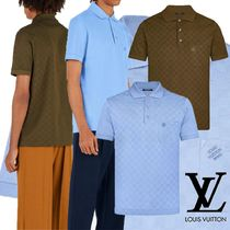 Louis Vuitton Other Check Patterns Street Style Plain Cotton Short Sleeves