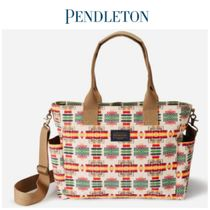 PENDLETON Casual Style Blended Fabrics 2WAY Totes
